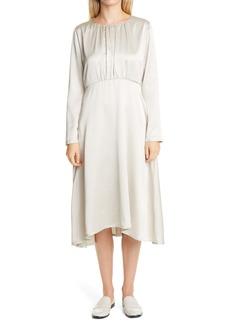 Fabiana Filippi Long Sleeve Satin Dress