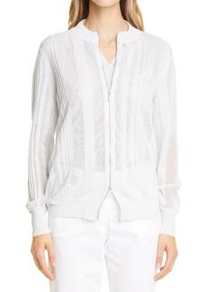 Fabiana Filippi Metallic Cotton Blend Bomber Jacket