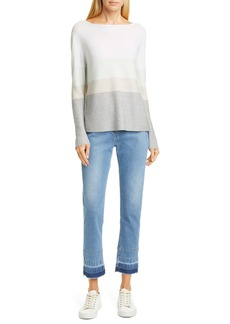 Fabiana Filippi Metallic Stripe Wool Blend Sweater