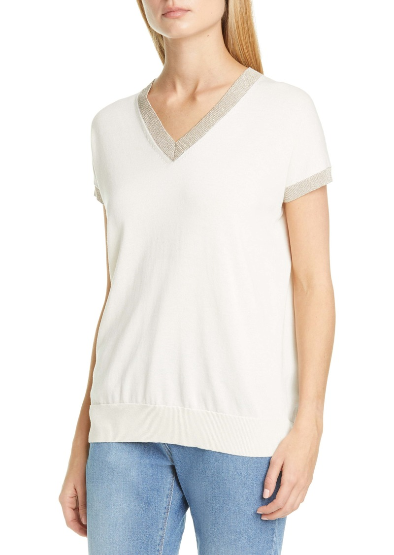Fabiana Filippi Metallic Trim Sweater