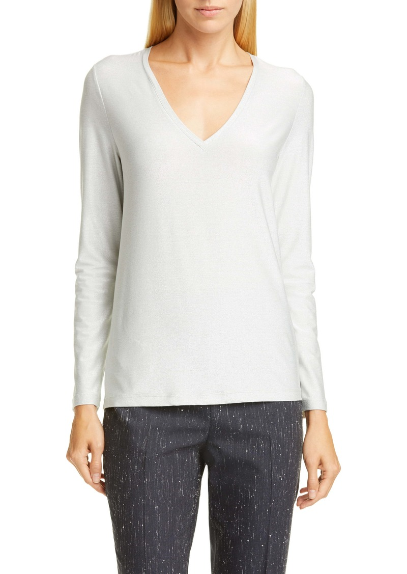 Fabiana Filippi Metallic V-Neck Sweater