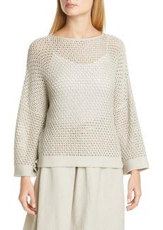Fabiana Filippi Open Stitch Metallic Cotton Blend Sweater