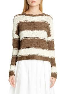 Fabiana Filippi Pointelle Stripe Sweater