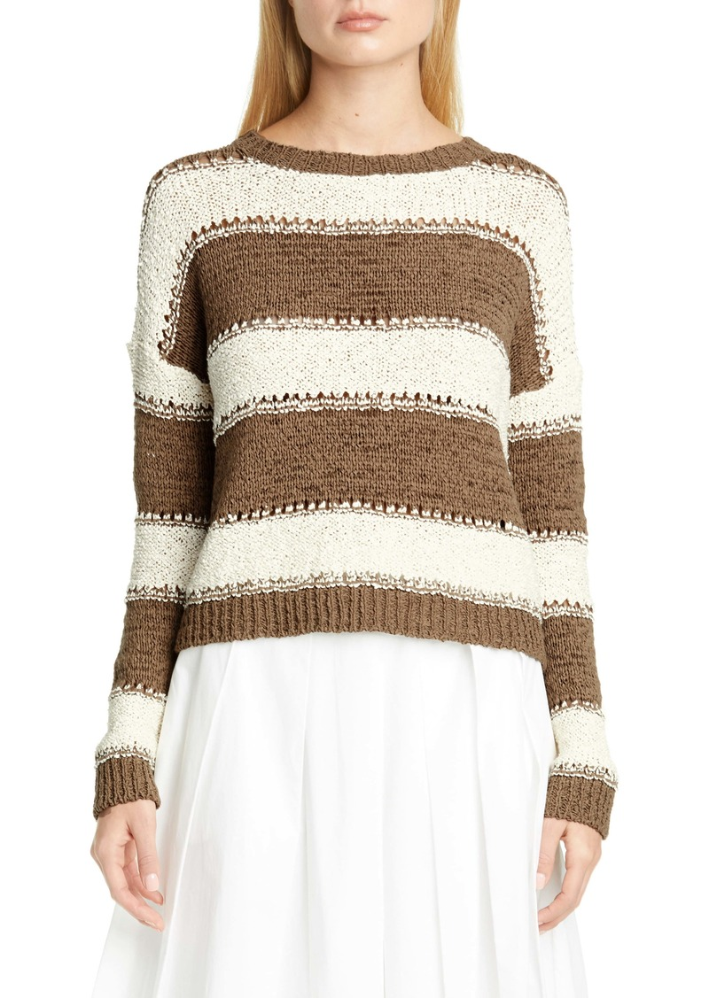 Fabiana Filippi Pointelle Stripe Sweater