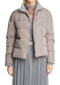 Fabiana Filippi Ribbed Collar Puffer Jacket