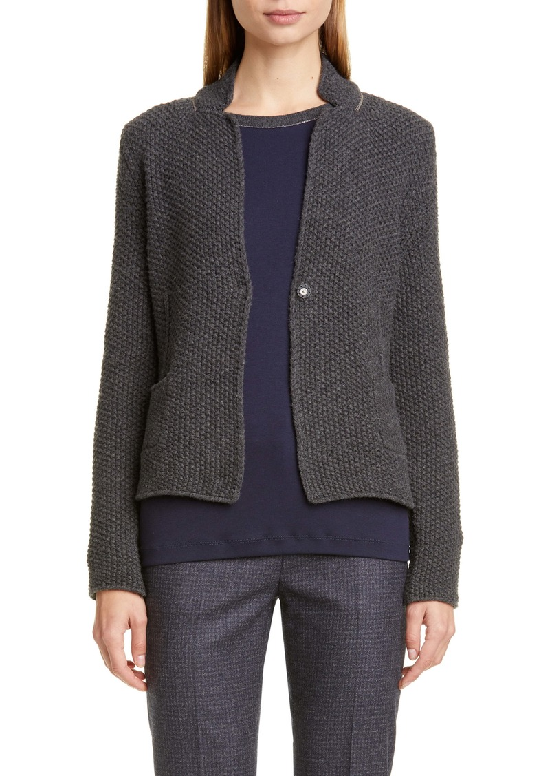 Fabiana Filippi Seed Stitch Wool, Silk & Cashmere Sweater