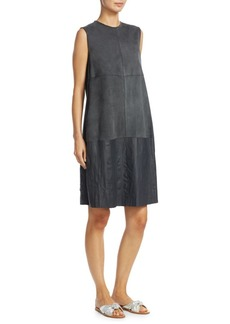 Fabiana Filippi Suede Shift Dress with Leather Detail
