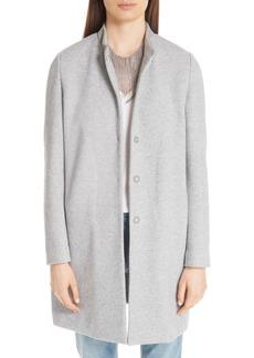 Fabiana Filippi Suede Trim Tweed Jacket