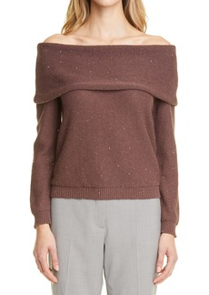 Fabiana Filippi Fabiana Filipppi Sequin Off the Shoulder Sweater