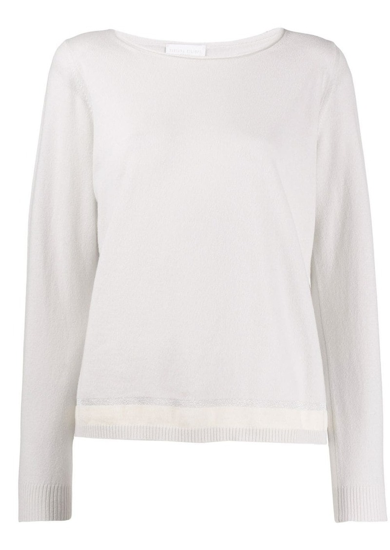 Fabiana Filippi fitted crew neck sweater