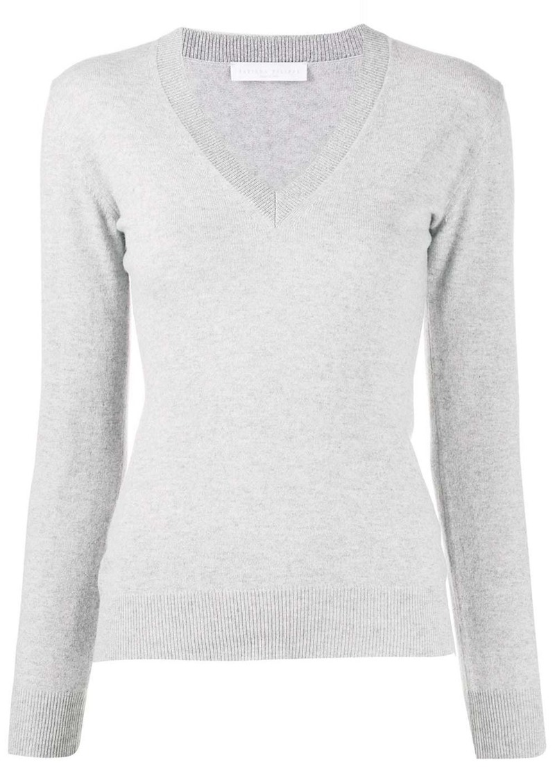 Fabiana Filippi fitted v-neck jumper