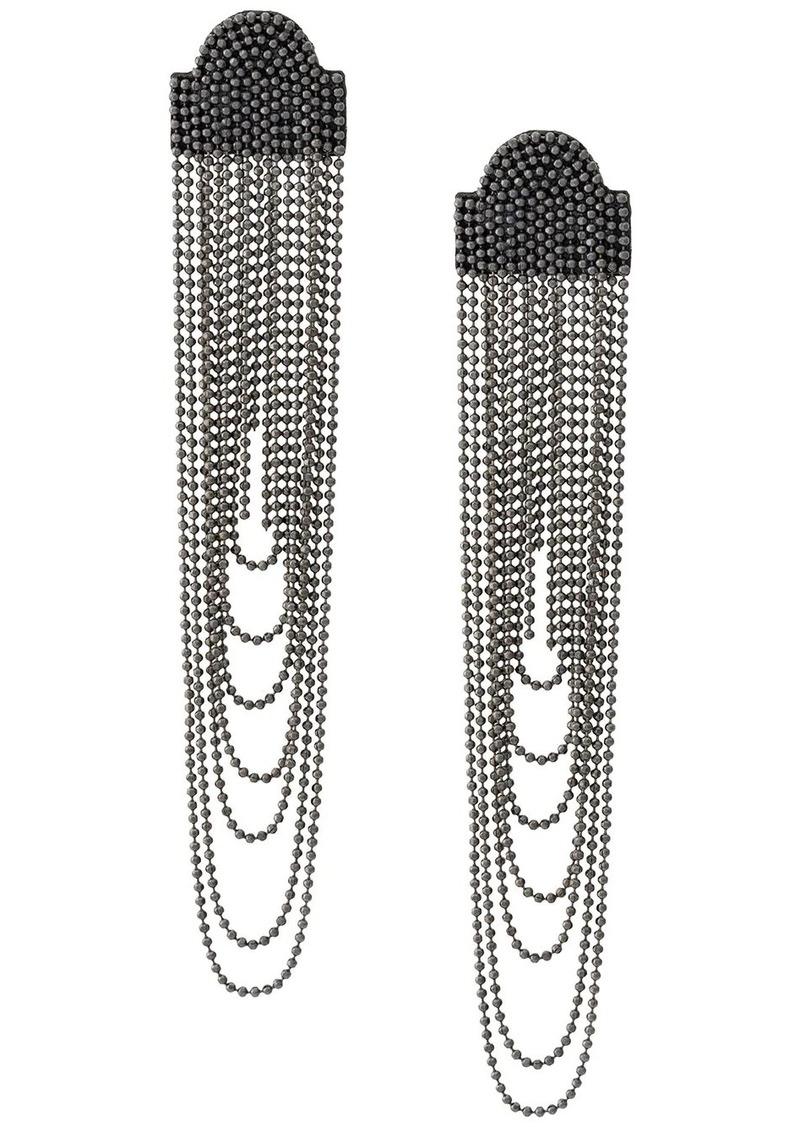 Fabiana Filippi fringe chain earrings