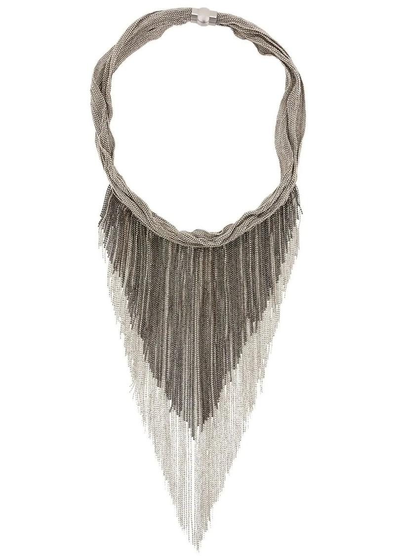 Fabiana Filippi fringed ball chain necklace