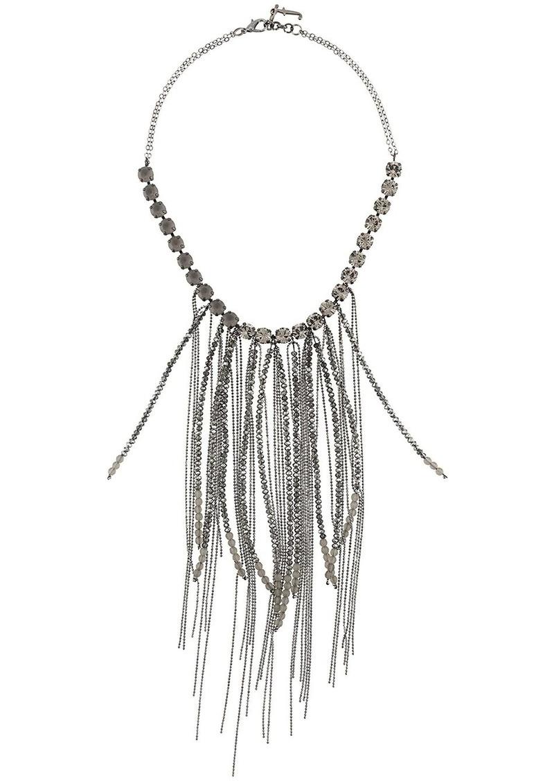 Fabiana Filippi fringed embellished necklace