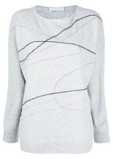 Fabiana Filippi graphic print knitted top