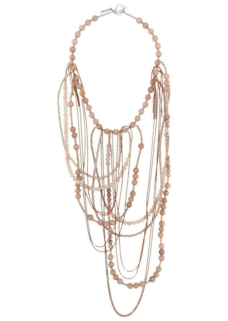 Fabiana Filippi layered beaded necklace