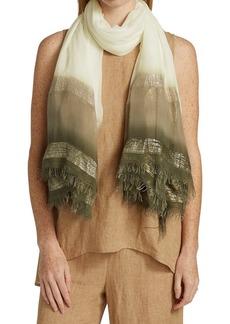 Fabiana Filippi Linen Striped Scarf