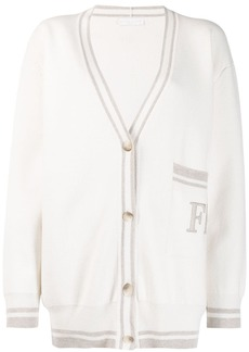 Fabiana Filippi logo long-sleeve cardigan
