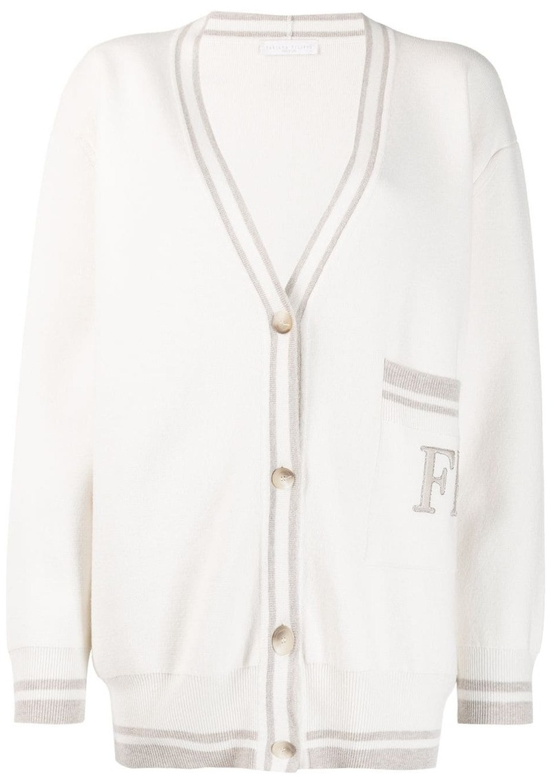 Fabiana Filippi logo long-sleeve cardigan