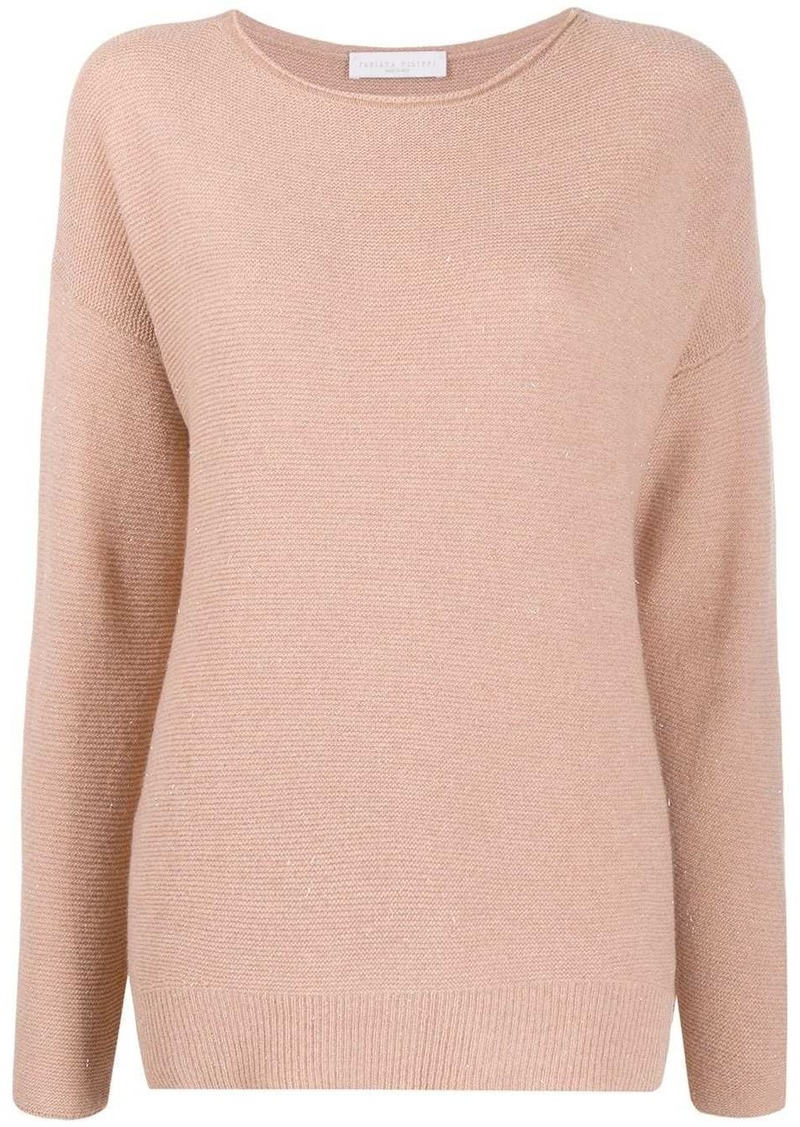 Fabiana Filippi metallic stitched jumper