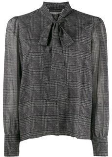 Fabiana Filippi neck tie plaid blouse