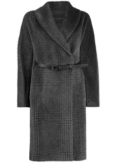 Fabiana Filippi oversize check wrap coat