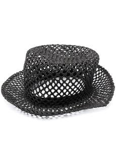 Fabiana Filippi perforated woven hat