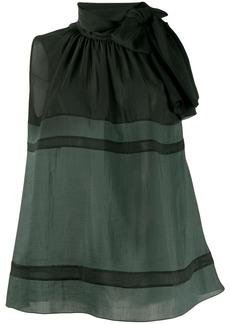 Fabiana Filippi pussy bow sleeveless blouse