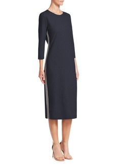 Fabiana Filippi Quarter-Sleeve Jersey Shift Dress