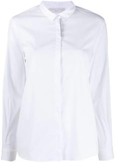 Fabiana Filippi rhinestone-trimmed slim-fit shirt