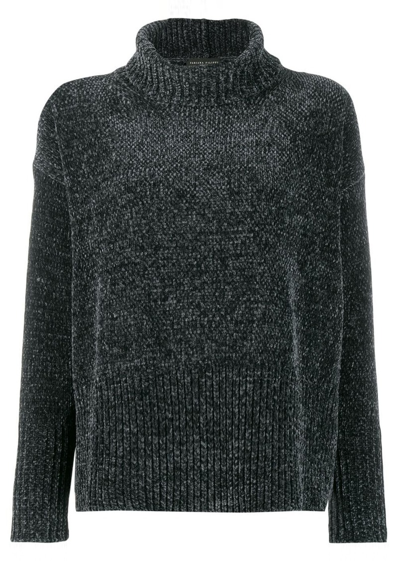 Fabiana Filippi roll-neck flared sweater