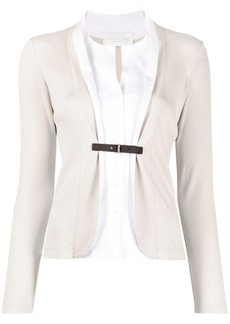 Fabiana Filippi shirt-style belted blazer