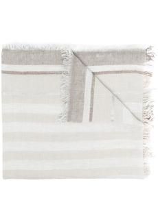 Fabiana Filippi striped frayed edge scarf