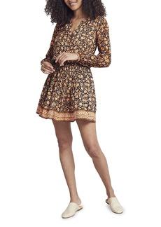 Faherty Brand Montara Print Long Sleeve Minidress