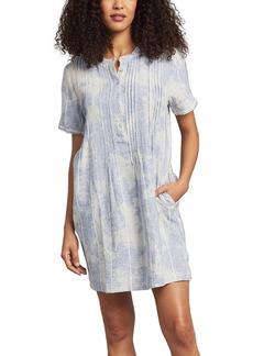 Faherty Gemina Pintuck Pleat Linen Dress