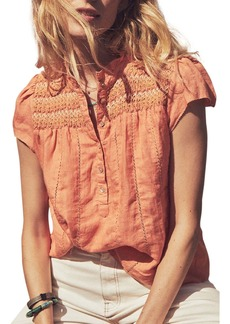 Faherty Honokaia Smocked Blouse