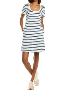 Faherty Merritt Stripe Back Button Dress