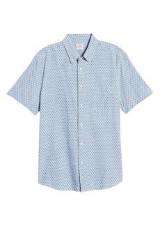 Faherty Playa Regular Fit Print Short Sleeve Button-Down Shirt