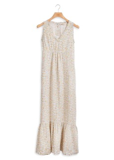 Faherty Sapphira Floral Linen Dress