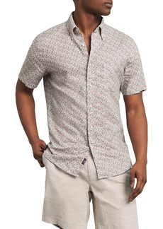 Faherty The Breeze Floral Short Sleeve Button-Down Shirt