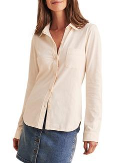 Women's Faherty Brand Seasons Organic Cotton Knit Button-Up Shirt