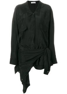 Faith asymmetric shirt dress