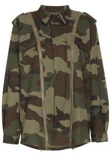 Faith Camouflage jacket with zip detail