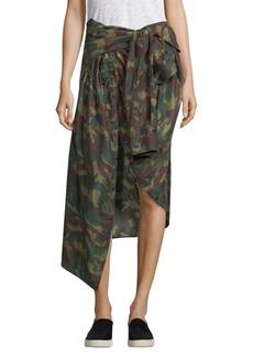 Faith Camouflage-Print Skirt