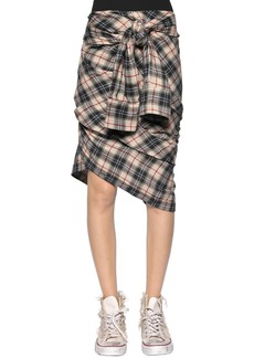 Faith Check Plaid Heavy Gauze Shirt Skirt