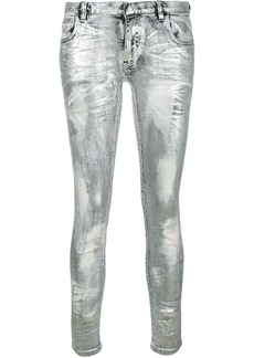 Faith coated metallic jeans