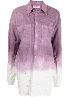 Faith Connexion bleached two-tone shirt jacket