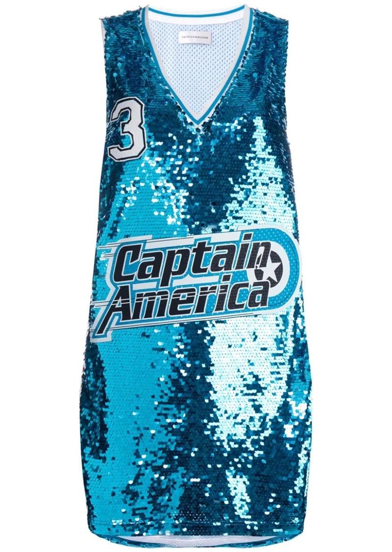 Faith Connexion Captain America jersey top