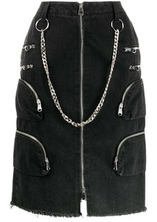 Faith Connexion chain detail denim skirt