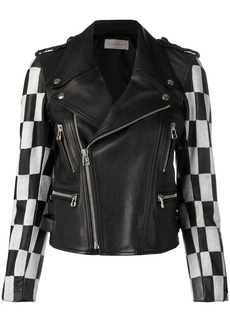 Faith Connexion checkered bike zipped jacket